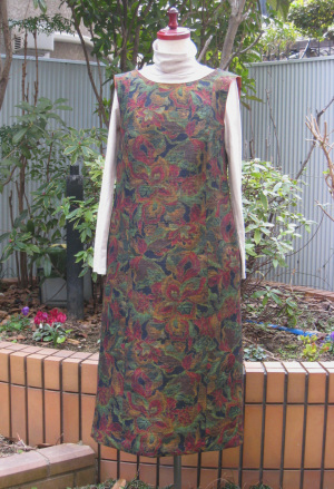 紬のジャンパースカート